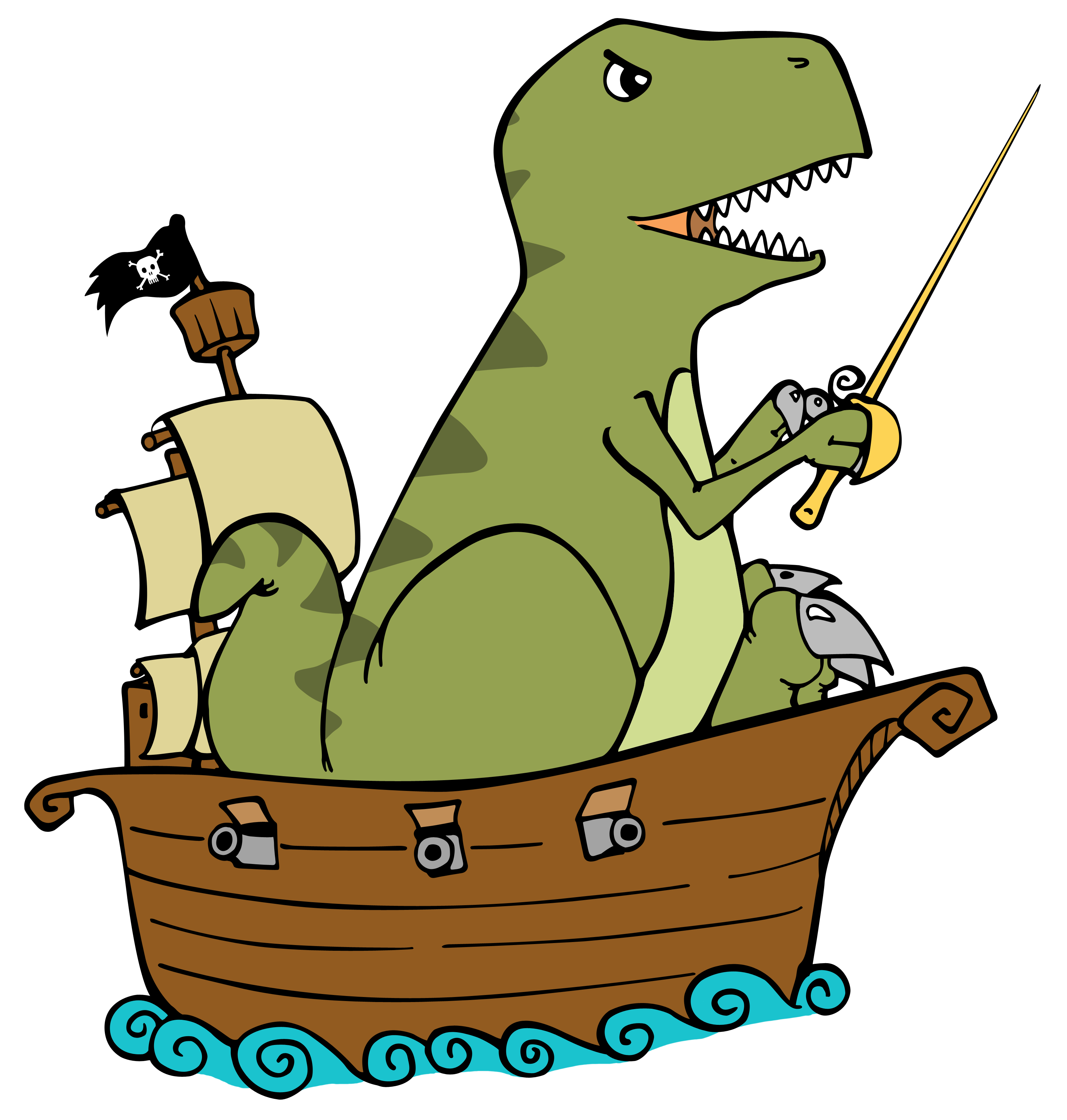 dinosaur pirate for cafepress png